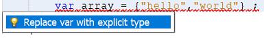 New Error Hint for var Array declaration