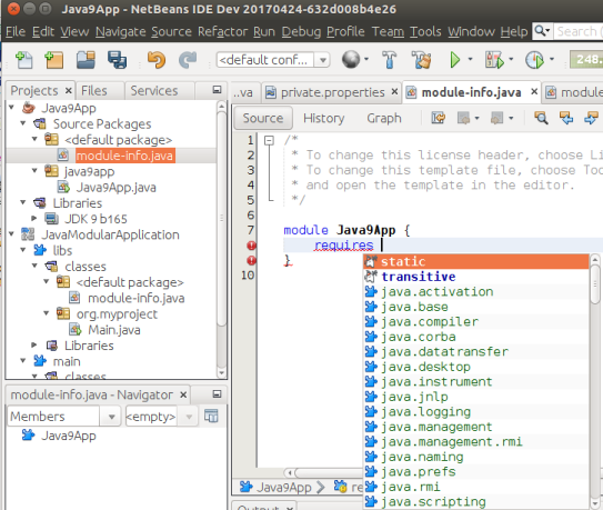 Apache NetBeans (incubating) 9 0 Features