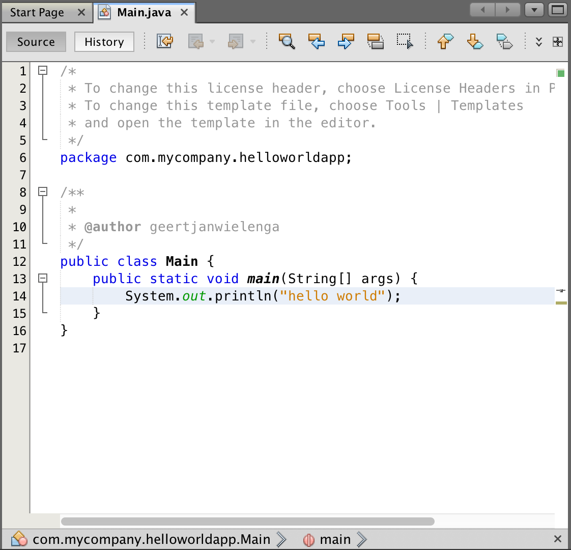 Java Quick Start Tutorial