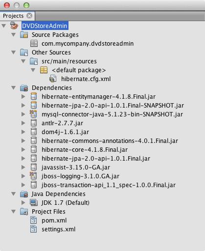 Creating a Maven Swing Application Using Hibernate - NetBeans IDE