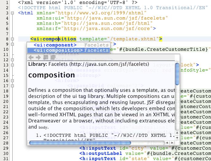 JSF 2 x Support in NetBeans IDE